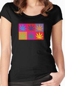 Marijuana Abstract Women's Fitted Scoop T-Shirt