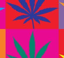 Marijuana Abstract Sticker