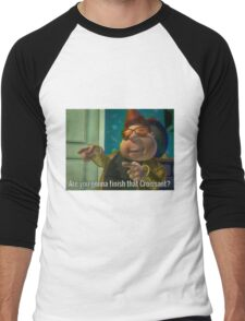 Are you gonna finish that Croissant? Men's Baseball ¾ T-Shirt