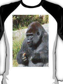 """A gorilla """"Silver Back"""" (6 c) (h) who is the star of the day .... T-Shirt"""