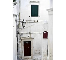 Small streets in coastal town, Puglia Photographic Print