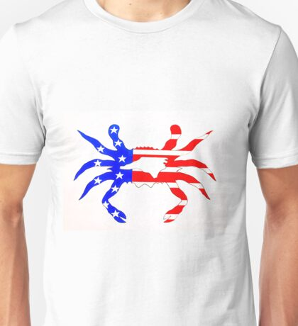 NC Crab   (US Flag) Unisex T-Shirt