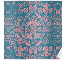 Great Barrier Reef ( pink ) coral pattern Poster