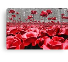 Tower Of London Remembers Canvas Print