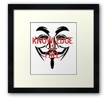 Knowledge Is Free Framed Print