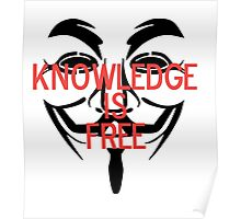 Knowledge Is Free Poster