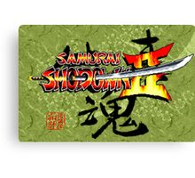 Samurai Shodown 2 (Neo Geo Title Screen) Canvas Print