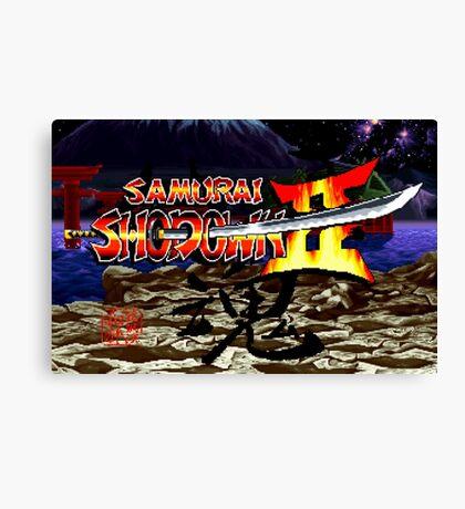 Samurai Shodown 2 (Neo Geo) Canvas Print