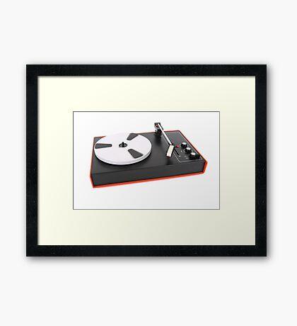Turntable player Framed Print