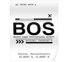 BOS, Boston Logan International Airport Call Letters Print Poster