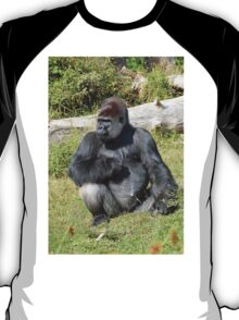 """A gorilla """"Silver Back"""" (7 c) (h) who is the star of the day .... T-Shirt"""