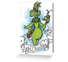 the Sea Sick Crockodile Greeting Card