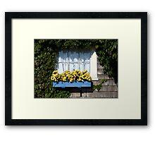 Blue Flower Box Framed Print