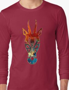 Antelope, Africa, Space, Cosmos, Galaxy, Universe Long Sleeve T-Shirt