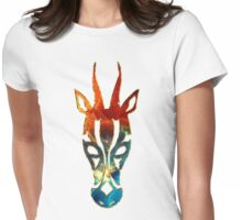 Antelope, Africa, Space, Cosmos, Galaxy, Universe Womens Fitted T-Shirt