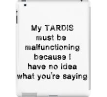 TARDIS malfunction iPad Case/Skin