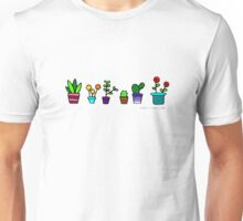 Colorful potted plants Unisex T-Shirt