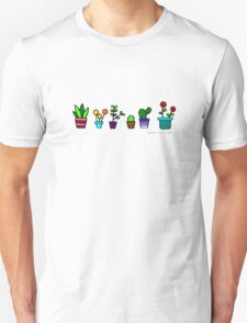 Colorful potted plants T-Shirt