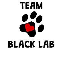 Team Black Lab Photographic Print