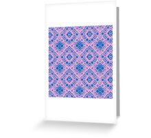 Graphic Shell Pattern Purple Greeting Card