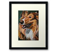 """My Best Friend"" Portrait of A Collie Framed Print"