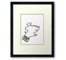 SHINee cassette tape writing Framed Print