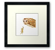 Brave little warrior Framed Print