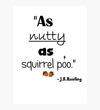 Nutty Poo Photographic Print