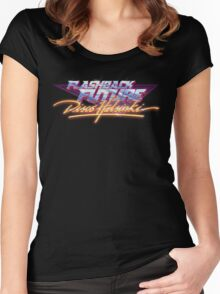 Flashback Future - Blood+Chrome Women's Fitted Scoop T-Shirt