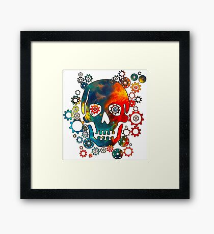 Skull, Space Pirate, Cosmos, Galaxy, Universe Framed Print