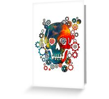Skull, Space Pirate, Cosmos, Galaxy, Universe Greeting Card