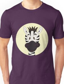 Funny zebra cartoon Unisex T-Shirt