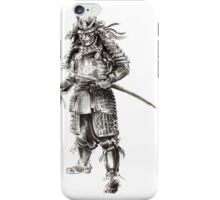 Samurai old armor artwork, japanese ideas painting iPhone Case/Skin