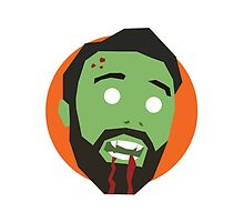 'Ricky Gervais' Halloween Zombie by ComedyQuotes