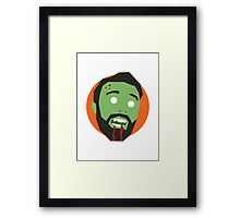 'Ricky Gervais' Halloween Zombie Framed Print