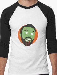 'Ricky Gervais' Halloween Zombie Men's Baseball ¾ T-Shirt