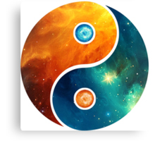 Yin Yang, Space, Cosmos, Galaxy, Universe, Outerspace Canvas Print
