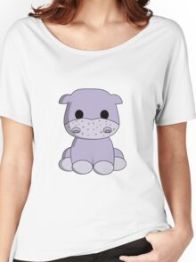 Cute baby hippo cartoon Women's Relaxed Fit T-Shirt