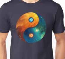 Yin Yang, Space, Cosmos, Galaxy, Universe, Outerspace Unisex T-Shirt