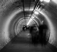 ghosts in a tunnel by timkouroff