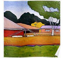 Australian Backyard with Hills Hoist Poster