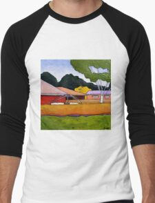 Australian Backyard with Hills Hoist Men's Baseball ¾ T-Shirt