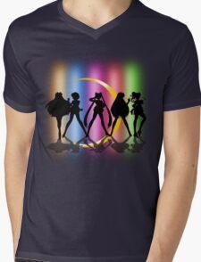 Moon Crescent silhouette Mens V-Neck T-Shirt