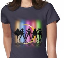 Moon Crescent silhouette Womens Fitted T-Shirt