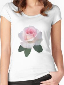 Lowpoly Rose Women's Fitted Scoop T-Shirt
