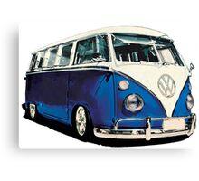 VW Bus Cool Blue Canvas Print