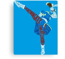 Chun-Li Typography Canvas Print