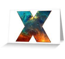 X, Space, Universe, Galaxy, Cosmos Greeting Card