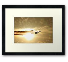 Red Arrows Sunset Framed Print