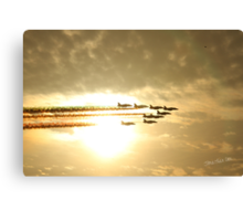 Red Arrows Sunset Canvas Print
